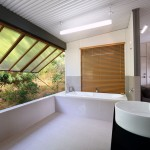 Bathroom at Eliza Fraser Lodge eco-tourism on beautiful Fraser Island, Australia