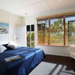 Bedroom at Eliza Fraser Lodge eco-tourism on beautiful Fraser Island, Australia