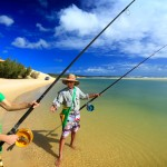 Fishing with Eliza Fraser Lodge eco-tourism on beautiful Fraser Island, Australia