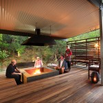 Fireplace at Eliza Fraser Lodge eco-tourism on beautiful Fraser Island, Australia
