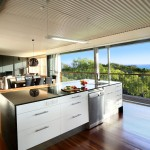 Kitchen at Eliza Fraser Lodge eco-tourism on beautiful Fraser Island, Australia