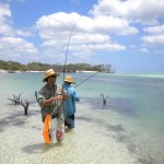Wathumba fishing with Eliza Fraser Lodge eco-tourism on beautiful Fraser Island, Australia