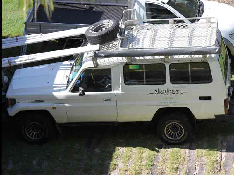 The Troop Carrier for Eliza Fraser Lodge eco-tourism on beautiful Fraser Island, Australia